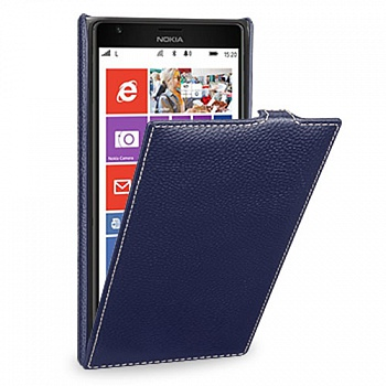 Чехол Melkco Leather Case for Nokia Lumia 1320 Jacka Type Dark Blue