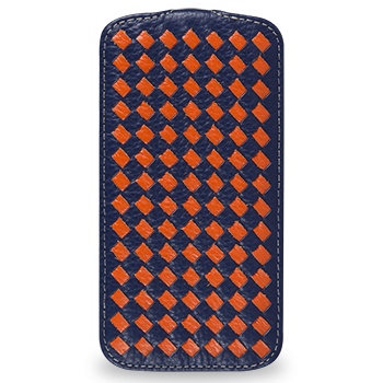 Чехол TETDED Premium Leather Case для Samsung Galaxy S4 / IV / I9500 / I9505 / Active I9295 i537 Troyes Weave: Navy Blue066