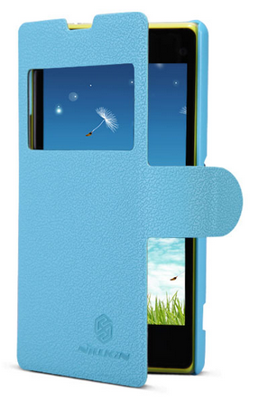 Чехол Nillkin Fresh Series Leather Case  для Sony Xperia Z1 Compact D5503 Blue
