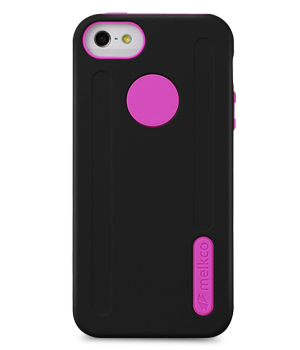 Накладка на заднюю часть Melkco Double Layer Case Kubalt Type для Apple iPhone 5 Black/Pink
