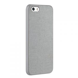 Чехол OZAKI O!coat 0.3 Canvas case для iPhone 5/5S Grey