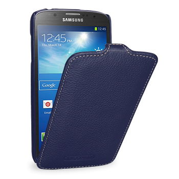 Чехол TETDED Premium Leather Case для Samsung Galaxy S4 / IV / I9500 / I9505 / Active I9295 i537 Troyes Navy Blue