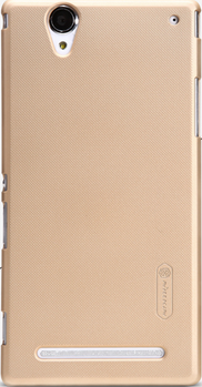 Чехол Nillkin Super Frosted Shield для Sony Xperia T2 Ultra Dual D5322 Gold