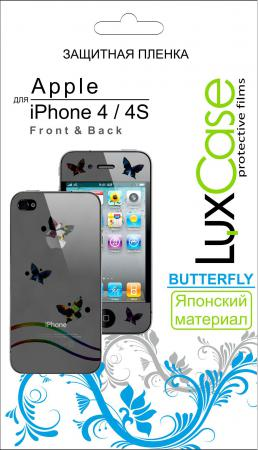 Защитная пленка LuxCase Apple iPhone 4/4S [F&B] Butterfly
