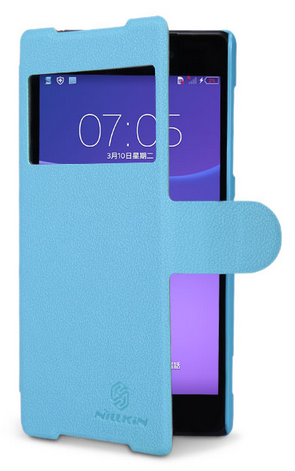 Чехол Nillkin Fresh Series Leather Case для Sony Xperia Z2, D6502, D6503, D6543 Blue