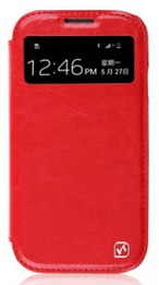 Чехол Hoco Crystal Series View Leather case for Samsung I9500 Red