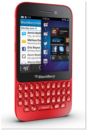 BlackBerry Q5 4G Red