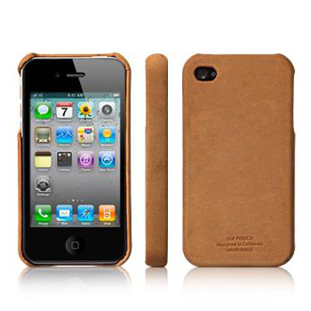 Чехол SGP Leather Grip Vintage Brown for iPhone 4
