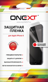 Защитная пленка Onext Iphone 6 Суперпрозрачная