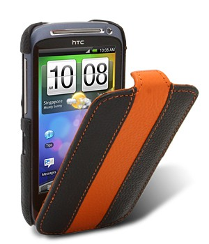Чехол Melkco  HTC Desire S  Black/Orange LC