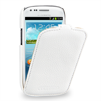 Чехол TETDED Premium Leather Case для Samsung Galaxy S3 / SIII Mini I8190 Troyes White