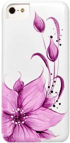 Накладка iCover для iPhone 5C Flower IPM-HP-FB/PP Purple
