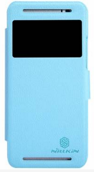 Чехол Nillkin Fresh series leather case для HTC One E8 Blue