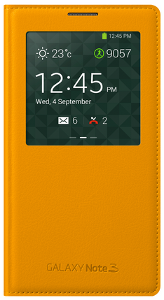 Чехол Flip Cover для Samsung Galaxy Note 3 N9005/N900 Yellow