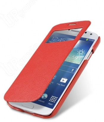 Чехол Melkco Premium Leather Case для Samsung Galaxy S 4 I9500 Face Cover Red