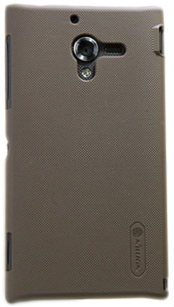 Чехол Nillkin Super Frosted Shield для Sony Xperia ZL Brown