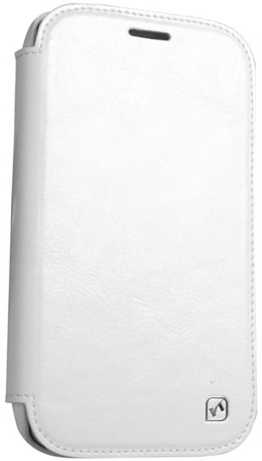 Чехол Hoco Royal Series Crystal Leather case for Samsung I9500 White