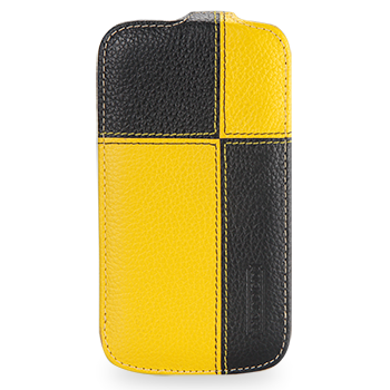 Чехол TETDED Premium Leather Case для Samsung Galaxy S4 / IV / I9500 / I9505 / Active I9295 i537 Troyes Plutus: Yellow/Black