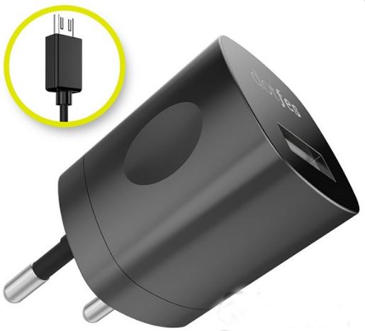 Dotfes C041A + 1A + кабель micro USB Black