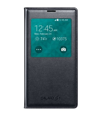 Чехол Flip Cover для Samsung Galaxy S5 G900 Black