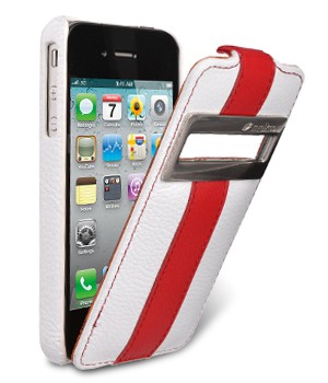 Чехол Melkco  Apple IPhone 4 ID Type Limited Edition White/Red LC