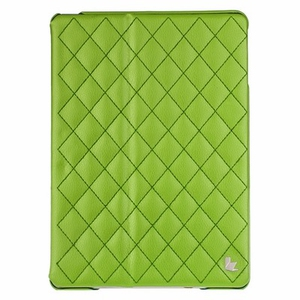Чехол JisonCase Smart Leather Case Premium Edition для IPad Air со стёганым узором Green