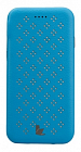 Чехол JisonCase Flip Case With Flower Pattern для iPhone 6 4.7 Blue