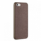 Чехол OZAKI O!coat 0.3 Canvas case для iPhone 5/5S Brown