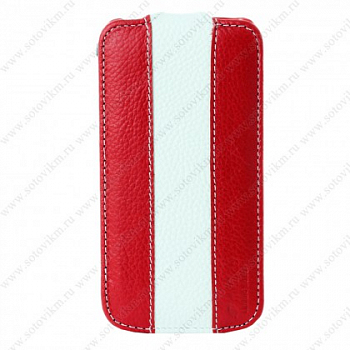 Чехол Melkco Leather Case для Samsung Galaxy S4 mini i9190 Jacka Type Red/White