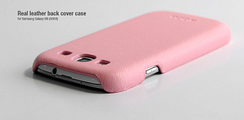 Чехол Hoco Real Leather back cover case for Samsung I9300 Pink