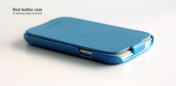 Чехол Hoco Real Leather back cover case for Samsung I9300 Blue