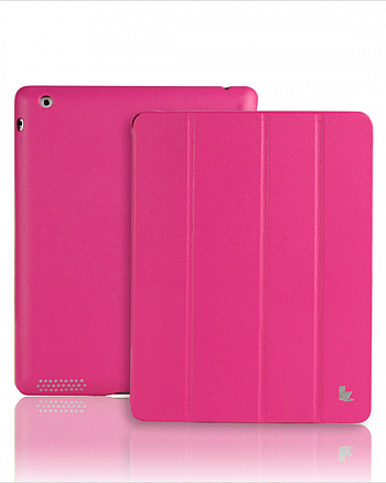 Чехол JisonCase Smart Leather Case Premium Edition для IPad 4 / IPad 3 / IPad 2 Rose