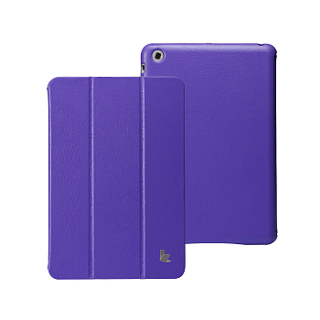 Чехол JisonCase Smart Leather Case Premium Edition для iPad mini Purple