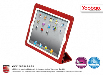 Чехол Yoobao iSmart Leather Case for IPad 4 / IPad 3 / IPad 2 red