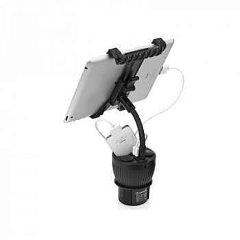 Capdase Car Charger Cup Holder PowerCup 2.2 with Tablet Black for iPad/iPhone/iPod (CAAPIPAD-C301)