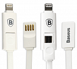 Кабель USB Baseus Dual port series 20см Apple/Android White