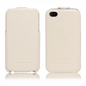 Чехол для Apple IPhone 4 Hoco Case Leather Case White
