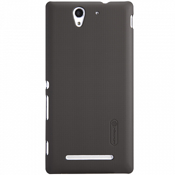 Чехол Nillkin Super Frosted Shield для Sony Xperia C3 D2502/D2533 Brown