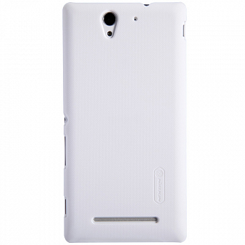 Чехол Nillkin Super Frosted Shield для Sony Xperia C3 D2502/D2533 White