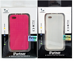 Чехол  Voorca  for IPhone 4 Gingham case pink