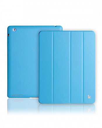 Чехол JisonCase Smart Leather Case Premium Edition для IPad 4 / IPad 3 / IPad 2 Blue