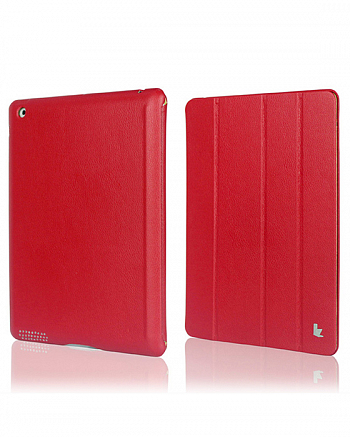 Чехол JisonCase Smart Leather Case Premium Edition для IPad 4 / IPad 3 / IPad 2 Red