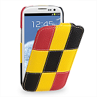 Чехол TETDED Premium Leather Case для Samsung Galaxy S3 / SIII i9300 / i9308 / SIII LTE i9305 Troyes Matrix: Yellow01