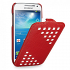 Чехол TETDED Premium Leather Case для Samsung Galaxy S4 / IV / I9500 / I9505 / Active I9295 i537 Troyes Weave: Red022