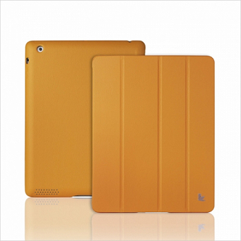 Чехол JisonCase Smart Leather Case Premium Edition для IPad 4 / IPad 3 / IPad 2 Yellow