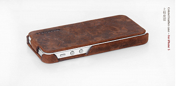 Чехол BOROFONE Colonel leather case for IPhone 5 Brown
