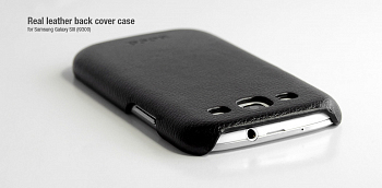 Чехол Hoco Real Leather back cover case for Samsung I9300 Black