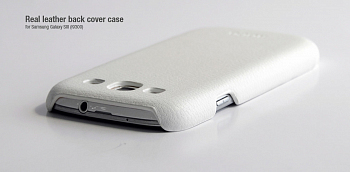 Чехол Hoco Real Leather back cover case for Samsung I9300 White
