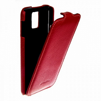 Чехол Melkco Leather Case для Samsung Galaxy S5 Mini G800 Jacka Type Red