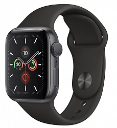 Смарт-часы Apple Watch Series 5  GPS + Cellular 40mm (MWWQ2) Space gray Aluminum Case with Black Sport Band